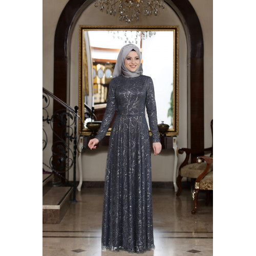Anthracite Evening Dress