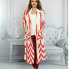 Kobe Fabric Red White Long Jacket