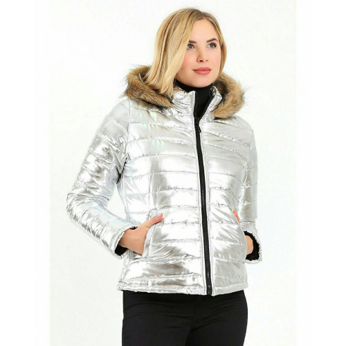 Metallic Silver Short Inflatable Coats