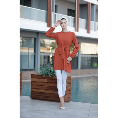 Brick Color Tunic
