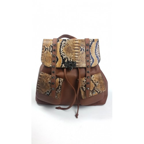 Shirred Taba Color Backpack