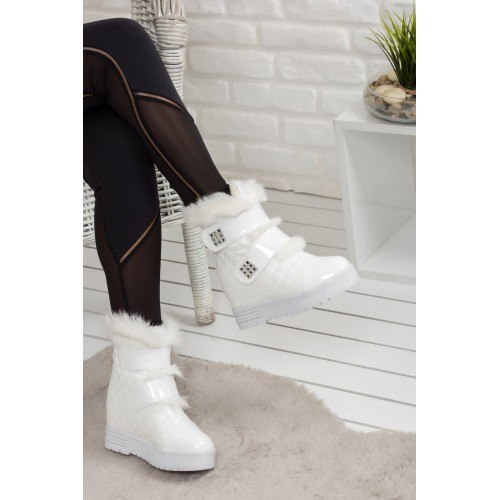 Woman White Boots