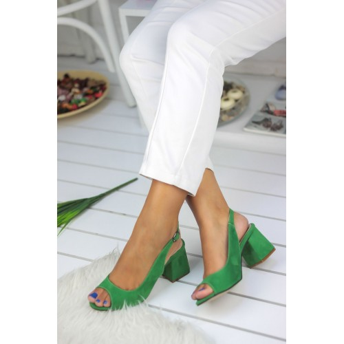 Green Suede Casual Shoes
