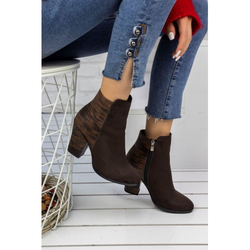 Lady Brown Suede Boots