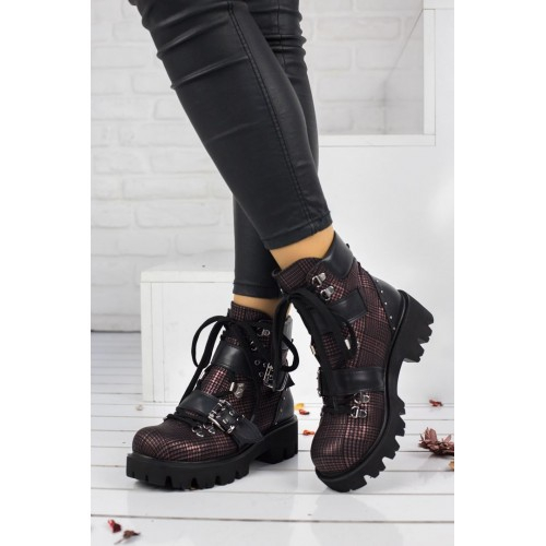 Lady Claret Red Boots Models