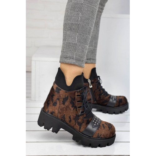Camouflage Patterned Lady Boots