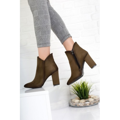 Lady Green Suede Boots