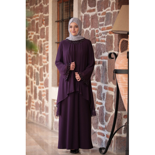 Amine Hüma - Asian Dress - Purple