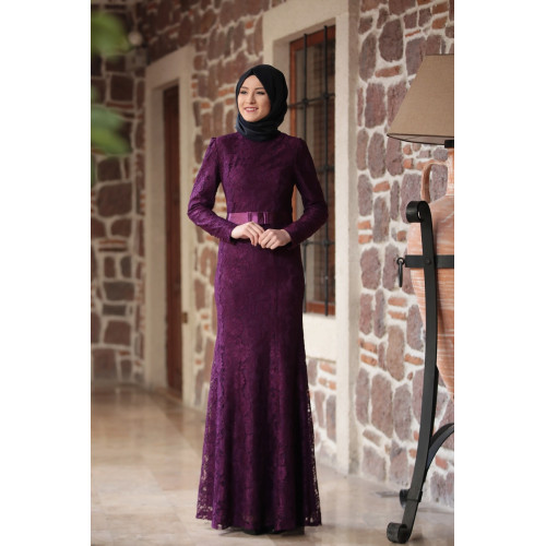 Purple Evening Dress Models