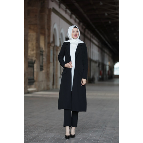 Black Hijab Suit