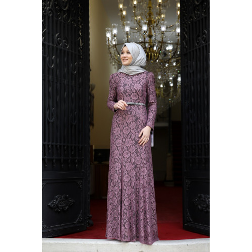 Hayal Evening Dress Dried Rose