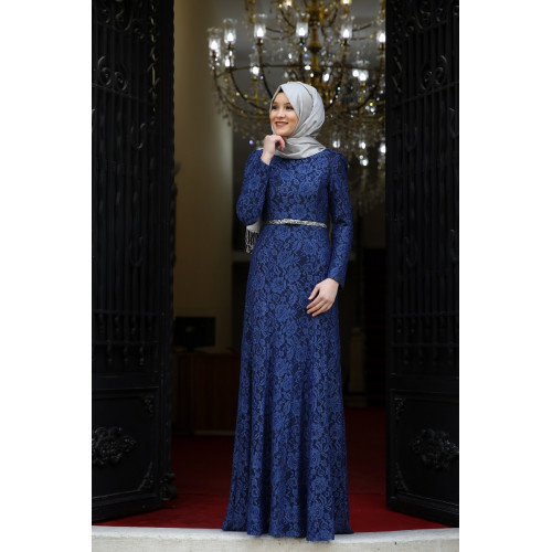Indigo Evening Dress