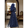 Ecrin Evening Dress Navy Blue - Al Marah