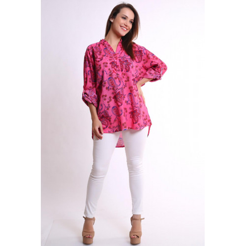 Authentic Patterned Pink Shirt