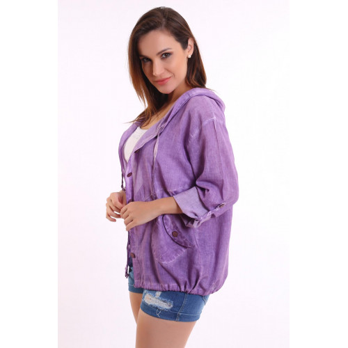 Authentic Hooded Purple Shirt