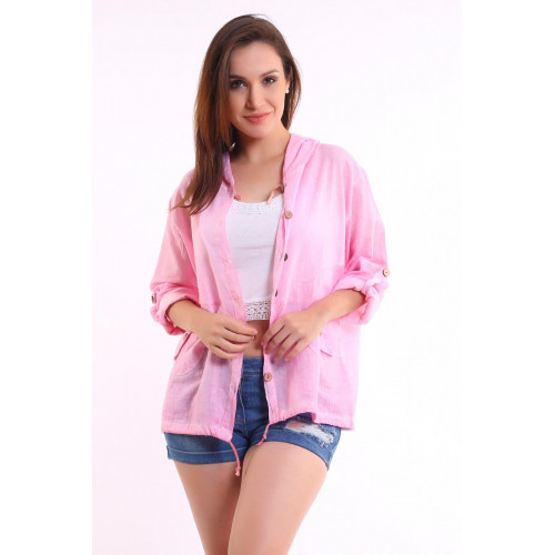 Authentic Hooded Pink Shirt