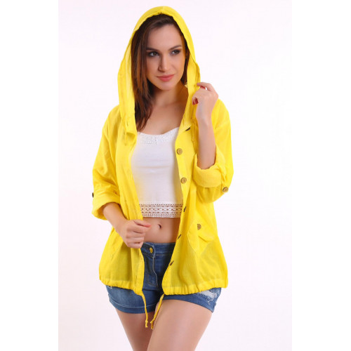 Authentic Hooded Yellow Shirt