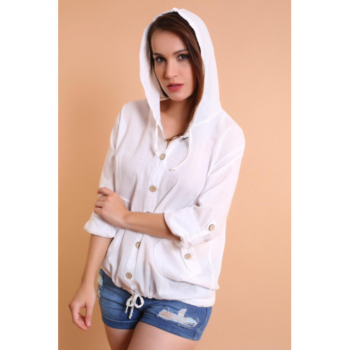 Hooded White Shirt