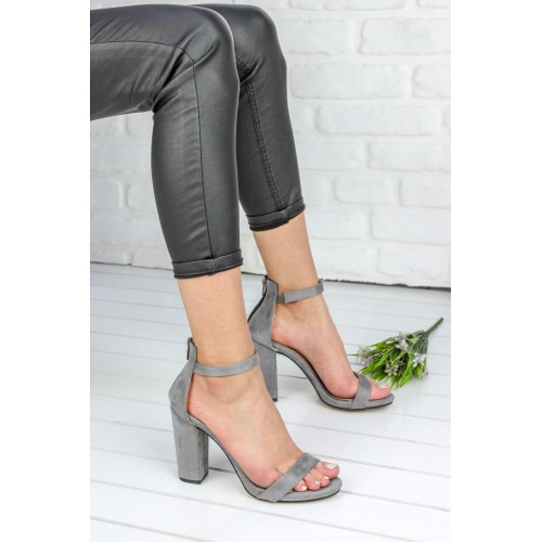 Alanzo Gray Heeled Shoes