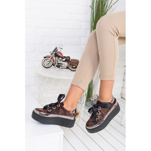 Alara Brown Camouflage Shoes
