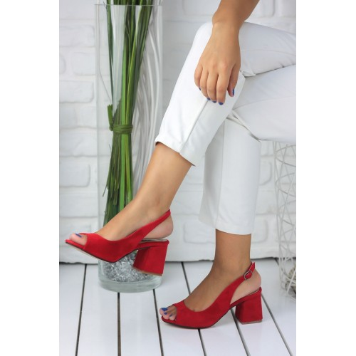 Aleynna Red Suede Casual Shoes
