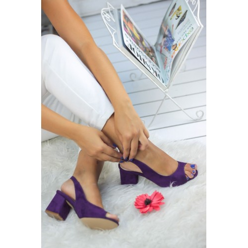 Aleynna Purple Suede Casual Shoes
