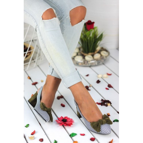 Alins Green Bow Heeled Shoes
