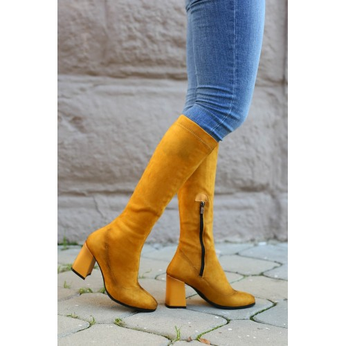 Alonso Mustard Suede Boots