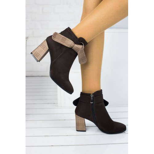 Amber Brown Suede Boots