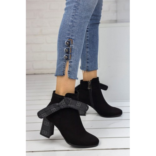 Amber Black Suede Boots