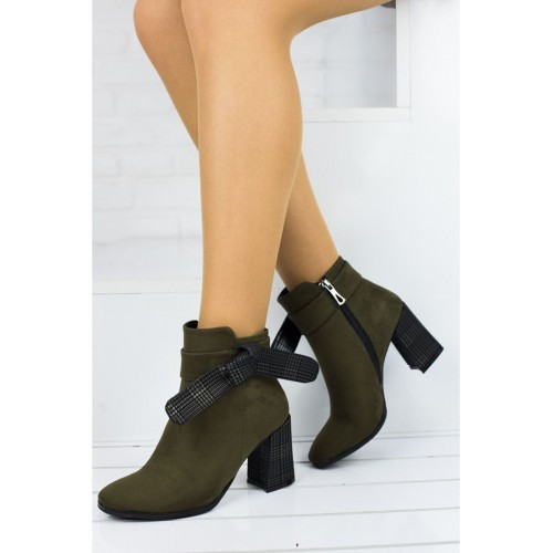 Amber Green Suede Boots