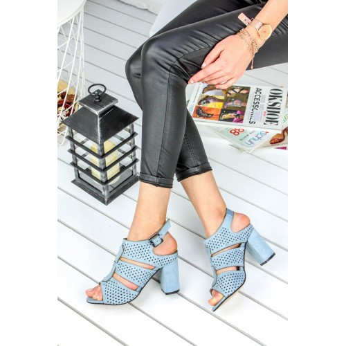 Cloud Baby Blue Heeled Shoes