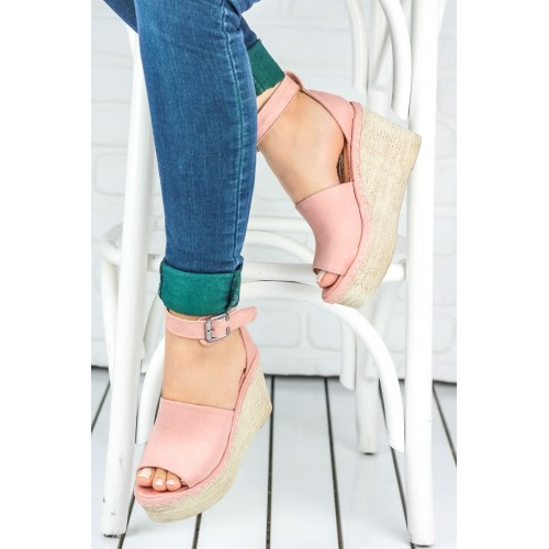 Clariss Powder Suede Wedge Heeled Shoes