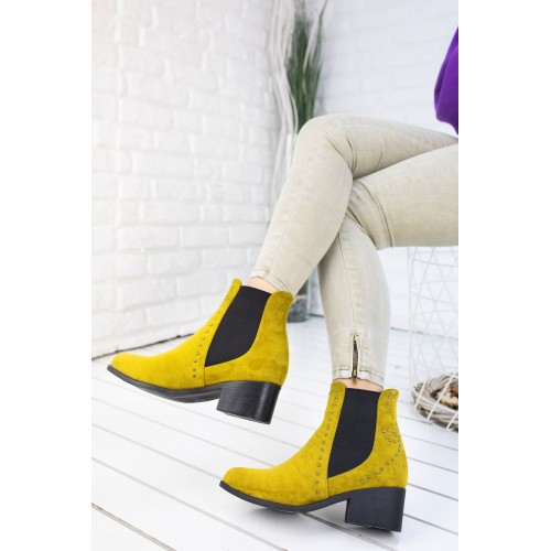 Charis Mustard Suede Boots