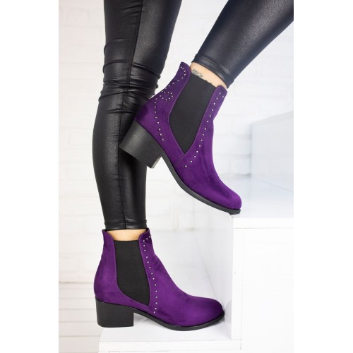 Charis Purple Suede Boot