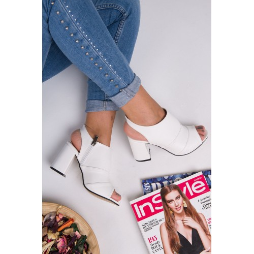 Batifull White Heeled Shoes
