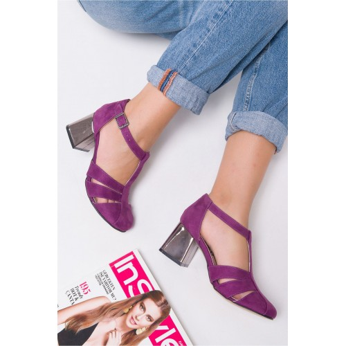 Angelita Purple Suede Shoes