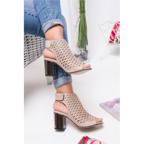 Allarie Mink Heeled Shoes
