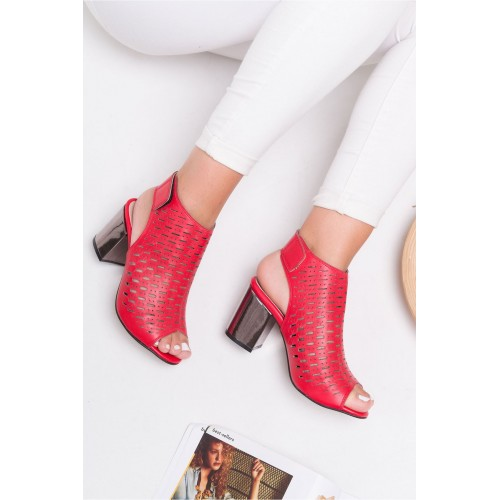 Allarie Red Heeled Shoes