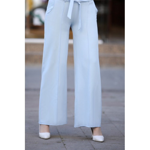 Wide Led Baby Blue Pants