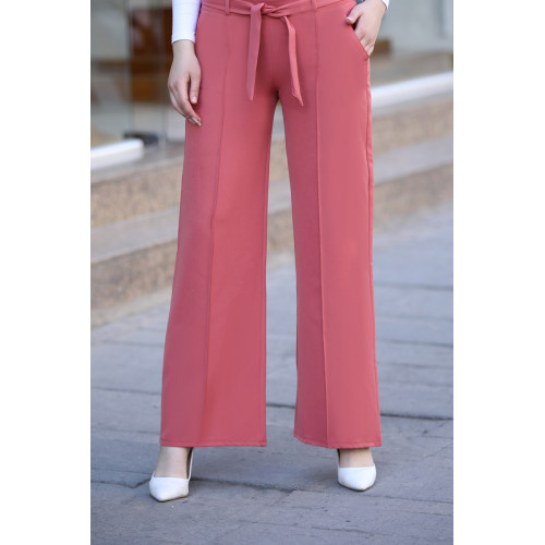 Wide Leg Trousers Dried Rose