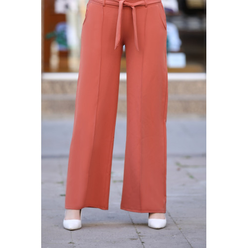 Wide Leg Brick Color Pants