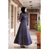 Hijab Navy Blue Evening Dress