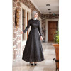 Hijab Black Evening Dress